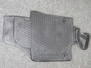 Original Rubber Car Mats Pair Front Black VW Sharan 7N Seat Alhambra