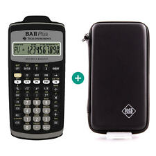 TI BA II Plus Taschenrechner + Schutztasche Schutzhülle