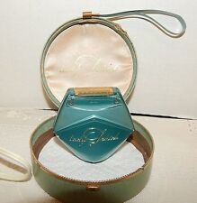 Vtg. Lady Schick Electric Razor 1950's Hatbox Case Art Deco Vanity Works Cord