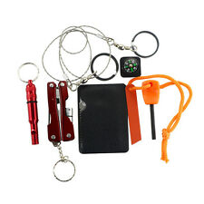 Outdoor  Camping Hiking SOS Emergency Survival Kit Equipment Box Multitool Knife