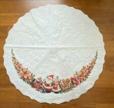 New listing Vintage Felt Christmas Tree Skirt w Trim Ruth Morehead Santa Mrs. Claus Toys