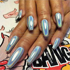 Holographic Unicorn Effect Mirrow Chrome Powder NO Polish Magic Nails Pigment