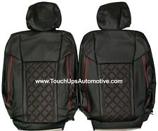 2015 2020 Ford F 150 Xlt Stx Roadwire Leather Seat Covers Black Red Diamond