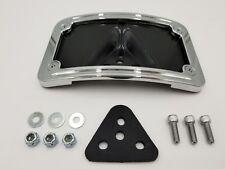 Chrome License Plate Curved Bracket Harley Shovelhead Sportster Dyna FXR