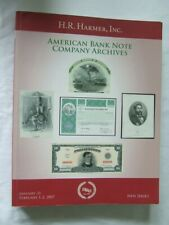 More details for harmer amercian bank note company archives auction catalogue 2007