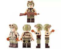 Lego WW2 US army Soldier Tank driver Military Soldat Conducteur de char Minifig