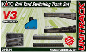 Kato N Scale ~ New 2020 ~ Yard Switching Set Variation V3 Track ~ 20-862-1