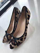 e8dd9d976e Giuseppe Zanotti Leopard Horsehair Pumps w Red Heels ...