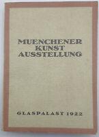 Katalog der Münchner Kunstausstellung im Glaspalast München 1922 mit Abbildungen