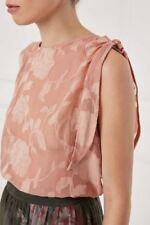 BNWT NEXT Pink Blush Floral Sleeveless Burnout Top Blouse RRP £34