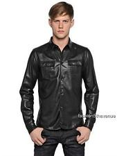 DSQUARED 2 Camicia Giacca Di Pelle Nera it48 rrp1199gbp DSQUARED