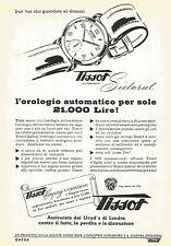 W0340 Orologio TISSOT Sideral - Pubblicità 1953 - Advertising