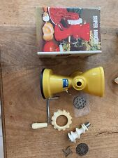 Vintage Moplen Super Mincer YELLOW A Boxed 1970s Made in Italy - Kitsch