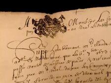 1682 Authentic Manuscript  4 PAGES