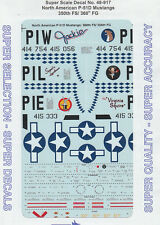 1/48 SuperScale Decals P-51D Mustang 350th FS 360th FG 48-917