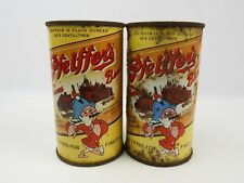 Pair of Vintage Pfeiffer's flat top beer cans