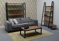 Teak Holz Couchtisch Beistelltisch Anstelltisch Strong Industrial 110 x 60 x 40