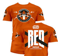 Star Wars Episode VII T-Shirt RED Squad Size L Toys shirts