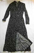 NEW Esprit* Womens Maxi Shirtdress Black Floral Print Size 38