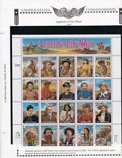 United States stamps #2869, Legends of the Old West, 1993, MNHOG, XF, SCV $15