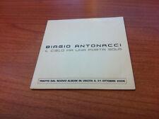 CDs BIAGIO ANTONACCI IL CIELO HA UNA PORTA SOLA P 2008