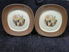 TWO Taylor Smith Taylor Conversation Harmony Teague Dinner Plates Set of 2 NICE