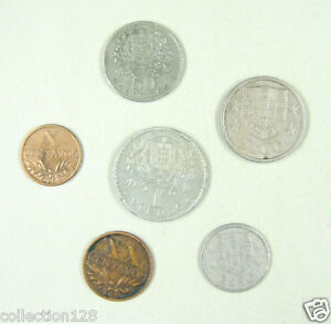 Portugal coins set of 6 pieces 1964 Circulated