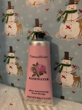 CRABTREE & EVELYN HAND THERAPY-ROSEWATER, ULTRA MOISTURIZING 3.4oz New