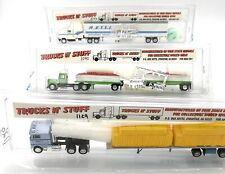 TRUCKS N' STUFF HERPA PROMOTEX HO 1/87 3 x CAMIONS US PETERBILT KENWORTH MACK...