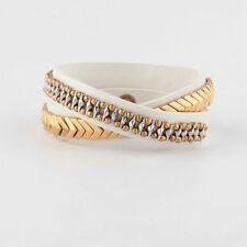 Authentic Stella & Dot Gilded Path Double Wrap Bracelet White