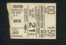 1967 Beach Boys Buffalo Springfield Strawberry Alarm Clock Concert Ticket Stub
