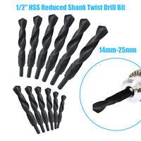1/2 inch REDUCED SHANK DRILLS HSS TWIST DRILL BITS - ALL METRIC SIZES! 14mm-25mm