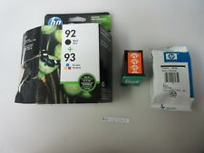 HP Combo Pack Black 92 / Tri-Color 93 Ink Cartridges. Exp May 2019