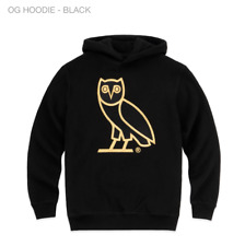 NEW Octobers Very Own Drake OVO OG Gold Owl Hoodie Black Embroidered Size XL