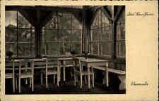 Fichtengrund Friedrichstal bei Oranienburg s/w AK ~1930 Schullandheim Veranda