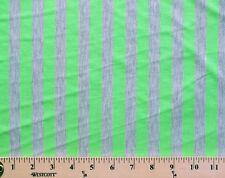 EZ Spun Polyester Neon Green Grey Stripe Knit Fabric By the Yard D343.06
