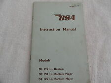 1967 BSA Motorcycle     Owners Manual D1 125 / D3 150 / D5 175