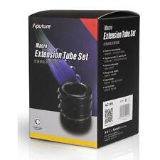 New Aputure AC-MN Macro Extension Tube Set for Nikon AI lens 12mm 20mm 36mm  ++