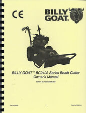 Billy Goat Brush Cutter Bc2403 Series Owner's Manual