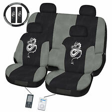 Dragon Grey  Car Seat Cover Set Universal Fit