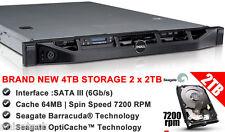 DELL POWEREDGE R410 2 x E5540 2.53GHZ CPU 64GB RAM   (4TB NEW 2 x 2TB SATA III )