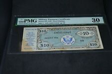 PMG Graded Military Payment Certificate $10 Banknote Series 472 VF30