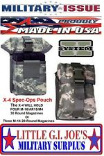 NEW ACU Molle Spec-Ops Brand X4 Magazine Utility Pouch, HOLDS 4 .223 & 5.56 MAGS