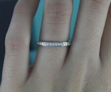 $4,150 Tiffany Legacy Platinum Diamond 2.3mm Full Eternity Wedding Band Ring 6.5