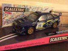 Scalextric SCX 6099 SUBARU IMPREZA WRC No11 COSTA BRAVA 2002 Solberg-Mill * Nuovo di zecca *