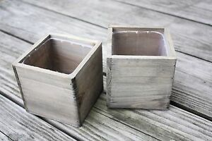Brand New Wooden Boxes w/ Liners - Flower Arranging & Wedding Centerpieces