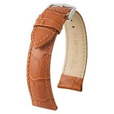 Hirsch Duke 20 mm honey watch strap, L