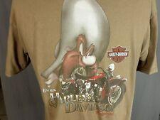 Legends Harley Davidson T Shirt Yosemite Sam Taz Clermont FL Motorcycle Green L