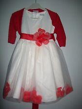 robe de ceremonies de taille 4 ans avec bolero rouge de taille 4 ans