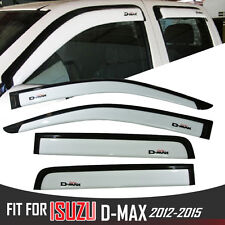4 DOOR ISUZU DMAX D-MAX 2012-2015 WHITE WIND SHIELD AIR GUARD RAIN VISOR WEATHER
